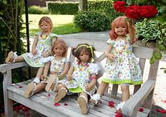 Kindergartenkinder ... (Kindergartenkinder) Tags: dolls himstedt annette ilce6000 sony essen park gruga kindergartenkinder pflanze blume garten tivi annemoni sanrike milina