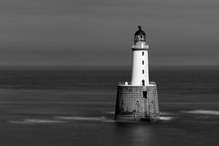 Rising Up (steve_whitmarsh) Tags: longexposure sea bw lighthouse beach water monochrome coast scotland sand aberdeenshire rattrayhead rattray