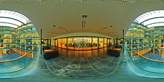Inside Hans-Sachs-Haus, #2 (uwe1904) Tags: architektur cityfotos da1017mmfisheye deutschland equirectangular ge gebäude gelsenkirchen hanssachshaus panorama pentaxk5 ruhrpott spivpano stadtlandschaft nrw d circularpatternrectified