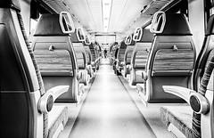 ||||i|||| (Heinrich Plum) Tags: white black monochrome train blackwhite fuji candid plum streetphotography zug monochrom schwarzweiss meridian emptytrain streetphotographie regionalverkehr xe2 mnchensalzburg leererzug heinrichplum xf1024mm