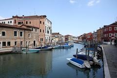 Moorings (My photos live here) Tags: venice urban italy water canon river boats eos town canal italia murano venezia moorings veneto 1000d