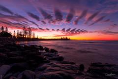 Moffat Beach Sunset-4237 (Danni McK) Tags: pink sunset beach water clouds landscape sand queensland bliss sunshinecoast moffat