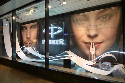 Vitrine Parker par Stéphanie Moisan, Galeria Inno - Bruxelles, mars 2012
