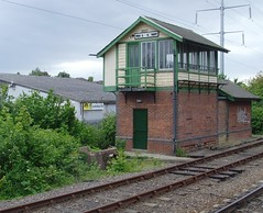 Old railway signal box in Peterborough (Tony Worrall Foto) Tags: uk england station train box tracks rail railway british posh signal peterborough cambridgeshire relic signalbox cathedralcity cambs 2012tonyworrall
