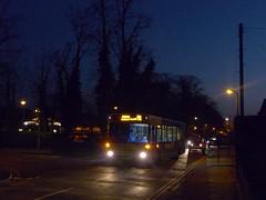 Stuck 91 (bobsmithgl100) Tags: bus night woking stuck pointer broadway surrey dennis dart diversion knaphill slf route91 plaxton lkj 3203 p203 arrivaguildfordwestsurrey p203lkj