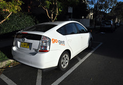 Car sharing: Mosman's hybrid electric car at Cowles Road