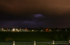 A stormy night at Traditions Square West, Norman (tim80bwi) Tags: sky cloud storm west oklahoma square tim university traditions norman east ou lightning tornado thunder slater