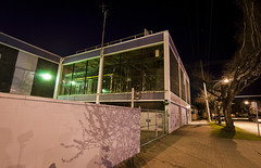 (Wzrdry) Tags: street city urban building night vancouver canon purple tokina tiles xti 400d tokina1116mm