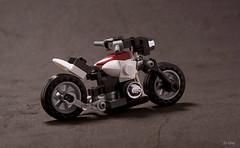 Lego Motorbike (_Tiler) Tags: bike lego motorbike motorcycle biker minifig minifigure legobike legomotorbike