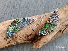 Psychedelic 2 (Blickfang JM) Tags: handmade polymerclay fimo earrings schmuck ohrringe jewelrys 52earrings braincaine