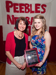 Coach Linda and Callie (BazzaStraße) Tags: senior up club night dinner scotland hall community centre under champs scottish 15 olympus peebles u runners 17 trophy annual s1 awards 13 recognition s3 winners borders drill e30 s4 2012 netball s2 champoins peebleshighschool