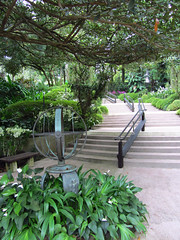 Walkway (Train Fan) Tags: park flowers trees plants gardens botanical singapore path walkway botanicalgardens pathway greenspace parkland