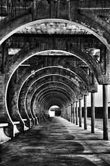 Corridor of hell   (SAUD ALRSHIAD 2  ) Tags: old white abstract monochrome lines composition photography nikon waves ngc line saudi paths riyadh 2012 saud saudia riydh    flickraward d7000  nikonflickraward nikond7000