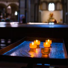 the missing one (Tafelzwerk) Tags: church lights licht nikon candles religion kirche atmosphere kerzen koblenz glaube d7000 tafelzwerk