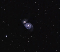 A Little Whirlpool M51 15 April 2012 + (BudgetAstro) Tags: nikond70 galaxy astrophotography m51 galaxies dss dso whirlpoolgalaxy astroimaging ngc5194 ngc5195 deepskystacker deepskyobject messier51a messier51 Astrometrydotnet:status=solved Astrometrydotnet:version=14400 Astrometrydotnet:id=alpha20120614458404