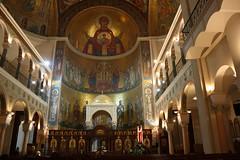 St Paul Church (Jack Sakabedoyan) Tags: lebanon bynight christianity religions christians liban mountlebanon stpaulchurch montliban harrisa insideviewofthechurch architectmardirosaltounian