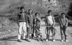 Band of friends  2 - 1990 (YourCCDA) Tags: africa leica portrait bw kids hoop group atlas marocco ethnic childs groupe christophecloud