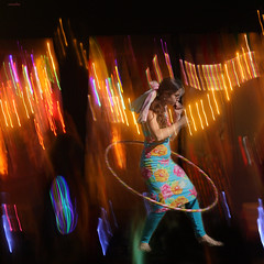 :::: summer dance party :::: (xandram) Tags: party summer photoshop lights dance manipulation hulahoop