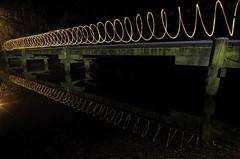 Walk the line (Daniel J Murphy) Tags: longexposure lightpainting night pentax australia 1224mm k5 coffsharbour steelwool