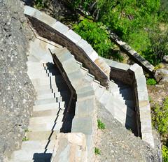 Stairs (Maxflush) Tags: trip sky white black mountains art church montagne stars landscape star rocks view greece monastery mont eglise monastere grece meteora mtores fbmeteora