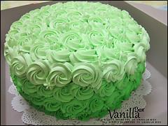Rosette Cake (vanillabox) Tags: green cake 5 layer colored multi من كيكه اللون الاخضر طبقات بتدرجات