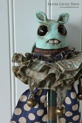 Blue Baton (AmandaLouiseSpayd) Tags: cute art monster handmade circus teeth plush creature primitive ohnodoom amandalouisespayd alsslideshow