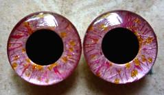 "Handpainted Blythe Eyechips - ""Rose Opal"""