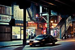New York facets - Marcy av. station (_Franck Michel_) Tags: night subway stair metro steel nuit escalier acier