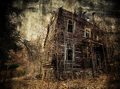 spooky house (Traveloddity) Tags: door old light sky house black cold building tree art abandoned home broken silhouette horizontal mystery night danger vintage dark evening design scary ancient gate closed estate darkness background empty grunge fear ghost evil haunted creepy spooky bulgaria horror devil nightmare aged mansion damaged cryptic fright grungy frightening