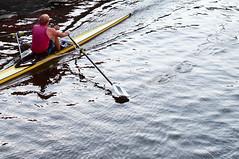 Rowin' rowin' rowin' (glukorizon) Tags: blue red reflection sports water sport yellow river blauw nederland delft rowing oar skiff geel rood centrum roeien rower odc zuidholland reflectie rivier riem spiegeling schie roeier eigenwerk singlescull fc59 odc2 ourdailychallenge fc2013xxxx