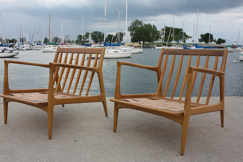 Exhilarating Ib Kofod Larsen Danish Mid Century Modern Lounge Chairs For  Selig (Denmark, 1950u0027s