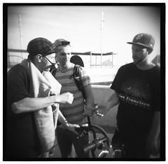 knucks (-ciaran) Tags: barcelona life street bw art face bike toy blackwhite holga lomo raw forum bcn documentary monotone shades plastic jumper cheap vignette greyscale sunnies trix400 plasticlens