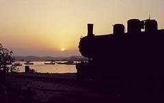 Massawa Dusk (goremirebob) Tags: sunset redsea trains locomotive railways massawa eritrea