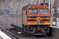2212 with the AK Cars Campbelltown (PJ Reading) Tags: west diesel south sydney ak railway locomotive arg gw campbelltown gwa 2212 422class 22class inspectioncars rpau22class rpau22class2212 railpage:loco=2212 railpage:class=78
