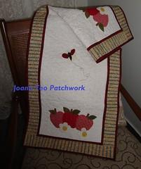 Caminho de mesa (Joana Teo - Artesanato & Patchwork) Tags: patchwork aplicação patchcolagem caminhodemesa panosdecopa trilhodemesa joanateopatchwork