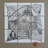 ensemble of (shebicycles) Tags: scale pen pencil tile nine doodle ensemble pennies indiaink zentangle 312inchsquare