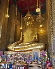 Wat Kanlayanamit Wiharn Buddha Phra Buddha Trai Rattananayok (DTHB1212) วัดกัลยณมิตรวรมหาวิหารพระวิหารพุทธ พระพุทธไตรรัตนนายก