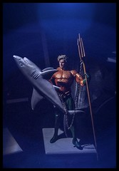 The Shark Shield (misterperturbed) Tags: shark actionfigures lensflare dccomics ios aquaman jla dcdirect dccollectibles new52aquaman