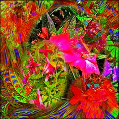 Life is a whirl! (brillianthues) Tags: flowers art leaves collage digital photography colorful vivid awardtree vividimagionation