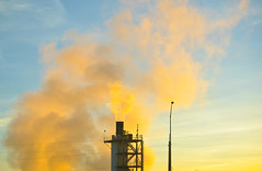 give me steam (pbo31) Tags: california morning november color northerncalifornia yellow sunrise nikon industrial smoke shell steam bayarea eastbay martinez refinery 2012 contracostacounty d700
