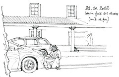 Lapin (gerard michel) Tags: auto car sketch croquis