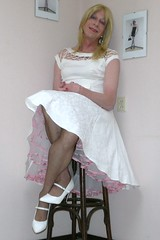 My newest dress II. (sabine57) Tags: ruffles drag tv highheels cd crossdressing tgirl transgender tranny transvestite crossdresser crossdress petticoat nylons frilly transvestism