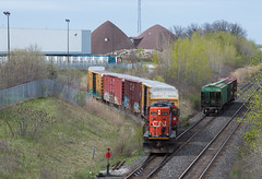 Working Mabe...Maybe?? (Joseph Bishop) Tags: railroad ontario cn train track tracks rail railway trains rails railfan brantford mabe emd masseys 4136 gp9rm cndundassubdivision