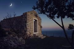 moonlit sonata (cherryspicks) Tags: park blue moon building church architecture scenery outdoor dusk croatia moonlit dubrovnik hrvatska orsula