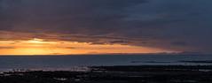 Solway sunset (alf.branch) Tags: sunset sea panorama water sunshine clouds scotland seaside waves olympus cumbria zuiko parton irishsea westcumbria partonbeach panoramicstitch olympusomdem5mkii zuiko40150mmf456r