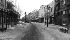 Kralja Petra (ivan-95) Tags: street city winter people blackandwhite white snow black building monochrome architecture outdoor empty sidewalk bnw