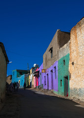 Multicoloured houses in the old town, Harari region, Harar, Ethiopia (Eric Lafforgue) Tags: africa street travel blue people house color building men heritage home vertical wall architecture outdoors photography town ancient women colorful day islam vivid multicoloured unescoworldheritagesite journey colored copyspace ethiopia multicolored oldtown groupofpeople tranquil multicolor hornofafrica harrar eastafrica vibrantcolor harar abyssinia famousplace ruralscene buildingexterior harari oromo traveldestination harer builtstructure harariregion hararjugol harergeprovince harergey ethio162962
