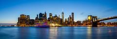 New York City Skyline (Photos By RM) Tags: new york city nyc newyorkcity longexposure blue sunset panorama newyork skyline brooklyn landscape skyscrapers manhattan widescreen bluehour statueofliberty newyorkny cityskyline panoramicview brooklynbridgepark freedomtower nycphotographer