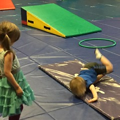"Paul and Inde Play at Gym Tigers Gymnastics Class • <a style=""font-size:0.8em;"" href=""http://www.flickr.com/photos/109120354@N07/27024141932/"" target=""_blank"">View on Flickr</a>"
