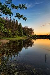 Storavatnet, Norway (Vest der ute) Tags: trees sunset norway reflections landscape mirror rogaland waterscape fav25 fav200 g7x ryksund